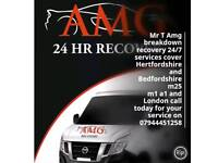 Mr T Amg Cheap Car Breakdown Recovery Biggleswade A1 A507 BREAKDOWN RECOVERY 24/7