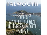 1/2/3 Property Wanted To Rent Truro/Falmouth/Penryn Area/Redruth etc