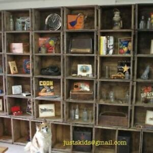 Crate Bookcase Wall Unit Shelving