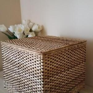 SMALL WICKER OTTOMAN CHEST- ON HOLD