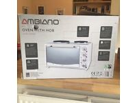 Ambiano mini oven with hob hardly used new in box