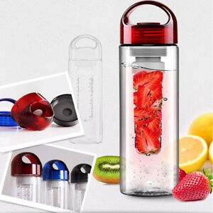 700mltransparent sport gourde bouteille infusion fruit eau th plastique beau ebay. Black Bedroom Furniture Sets. Home Design Ideas
