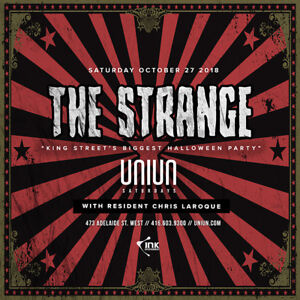 THE STRANGE @ UNIUN NIGHTCLUB October 27th Hardcopies