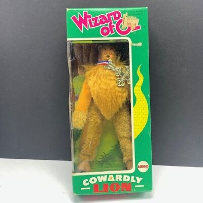 Wizard of oz Cowardly Lion action figure 1974 mego toys nib box medal doll - Wizard Of Oz Cowardly Lion Medal