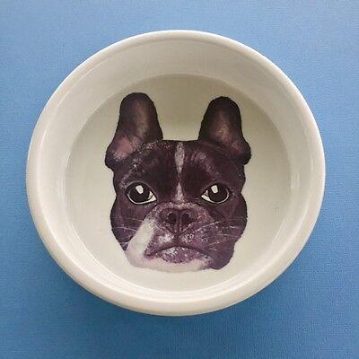 FRENCH BULLDOG Original Designer Pet/Dog Ceramic Bowls Christmas Gifts