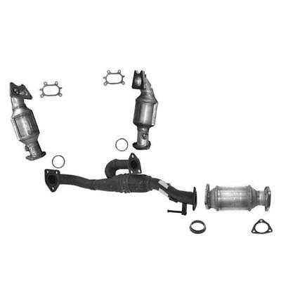 ALL 3 CATALYTIC CONVERTER FRONT LEFT & RIGHT & REAR + ENGINE PIPE W/WARRANTY A/T