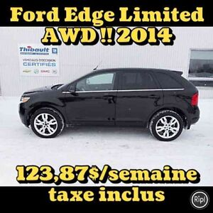2014 FORD EDGE AWD LIMITED 3.5 LITRES CUIR