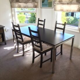 8 seat Dining Table and 4 chairs Ikea Torsby