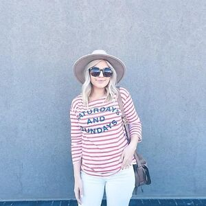 ANTHROPOLOGIE STRIPED WEEKEND TEE-LIKE NEW!