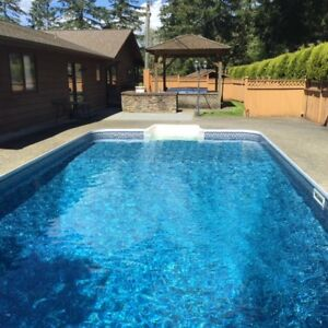 Langley House for rent, In Ground Pool,  Hot Tub ,4Bdrm. 4 bath.