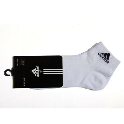 ADIDAS WOMENS / GIRLS 3 PACK ANKLE SOCKS SHOE SIZE 2.5 - 5 RRP £14.99