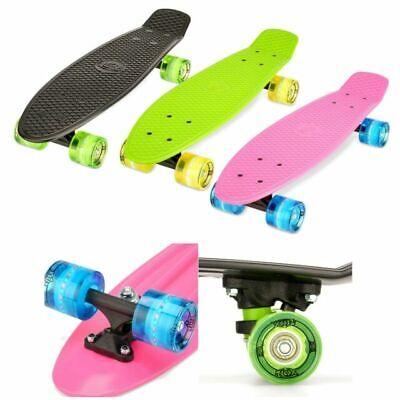 "Xootz 22"" Skateboard Kids Boys Girls Toy with Light Up LED Wheels Green or Black"