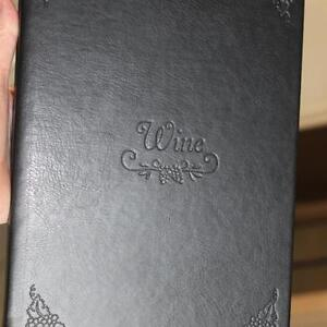 FINE LEATHER WINE RECORD BOOK FOR WINE LOVERS