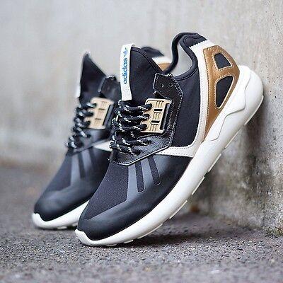 New Adidas Tubular Runner  New Years Eve  Black Gold B35639 Mens Running Shoes