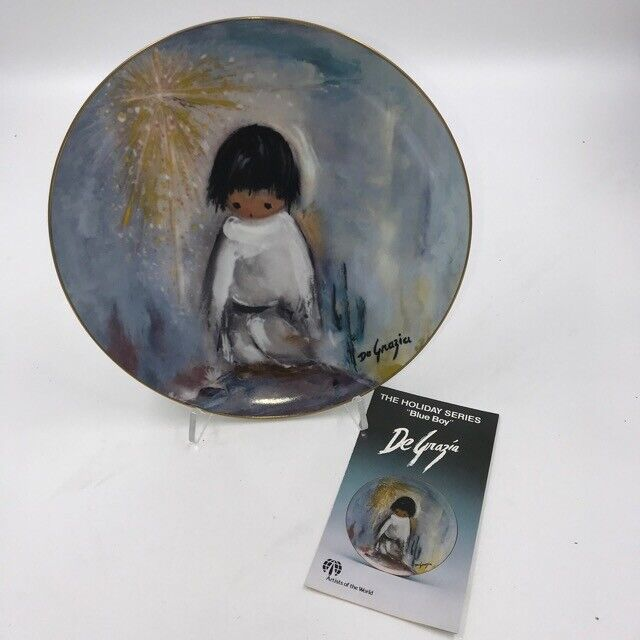 De Grazia - Blue Boy, De Grazia Holiday Series Collector Plate - 1982