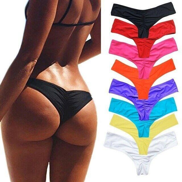 Women/'s Brazilian Thong Bikini Bottom Cheeky Traingle Briefs Swimwear Bathing
