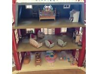 Sylvanian Families Regency Grand Hotel plus furniture and figures