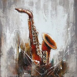 """""""Play it Again"""" Oil on Wood Framed Stretched Canvas"""