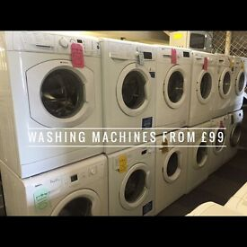Fully reconditioned washing machines with 6 months warranty from £99 delivered