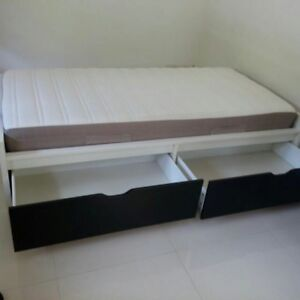 Twin bed rarely used no mattress