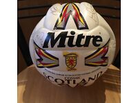 Hand signed Scotland Mitre Football