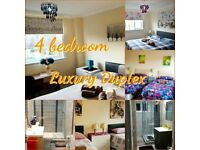 4 DOUBLE/TWIN/TRIPLE BEDROOM DUPLEX - UP TO 10 SLEEPS - 2 SHOWER ROOMS - DAILY/WEEKLY/MONTHLY LET