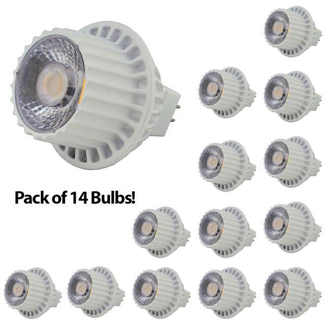 Lot of 14 MR16 12 Volt 8 Watt LED Spot Light Bulb Track Ligh