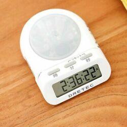 [DRETEC]T-186_White/Time Up Timer Stopwatch Clock Big Button/6 digital/LED lamp