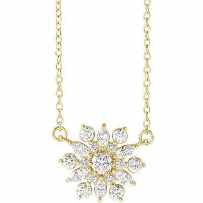 Diamond Vintage-Inspired Necklace In 14K Yellow Gold (1/2 ct. tw.)