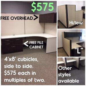 USED OFFICE CUBICLES and CALL STATIONS, MANY CONFIGURATIONS