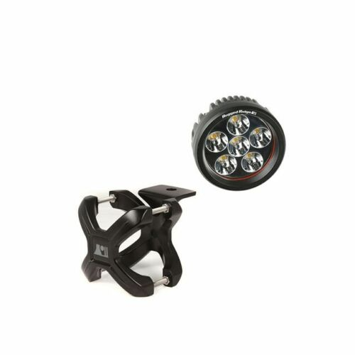 Rugged Ridge X-Clamp And Round Led Light Kit, Large, Black, 1 Piece 15210.04