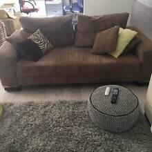 2 .5 seater lounge, brown corduroy material as new condition Kahibah Lake Macquarie Area Preview