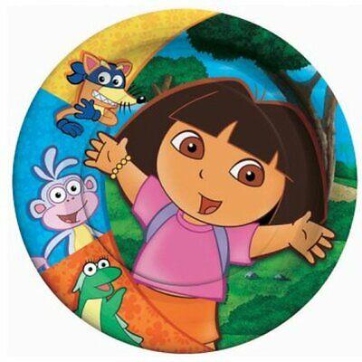 Dora The Explorer Birthday Party (DORA THE EXPLORER Party SMALL PAPER PLATES (8) ~ Birthday Supplies Cake)