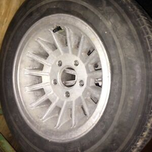 ALUMINUM RIMS WITH MICHELIN TIRES