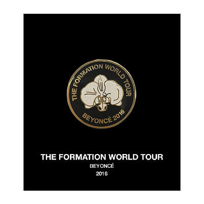 BEYONCE FORMATION WORLD TOUR OFFICIAL FLOWER PIN ORCHID LEMONADE BUTTON RARE