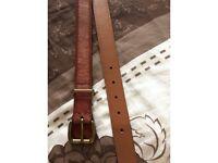 Genuine Leather Ralph Lauren Belt