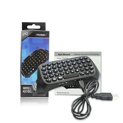 Bluetooth Tastatur für PS4 PlayStation PS 4 Controller Mini Keyboard Chat Pad