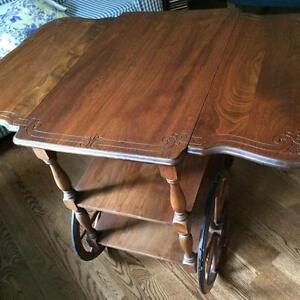 Antique Tea Wagon Table