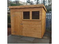 10x6 PENT 20MM THICK LOG HEAVY DUTY SHED £639