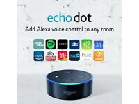 Amazon Echo Dot (2nd Generation) - SEALED - Black, BNIB, 1 yr warranty