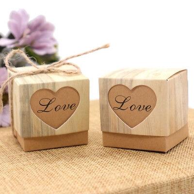 10 Stück Love Herz rustikale Stil Schachtel Geschenkbox Love Herz Faltbox
