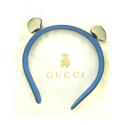 Auth GUCCI headband GG plus with ears J11949