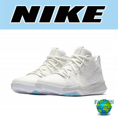 Nike Toddler Size 9C Kyrie 3 (TD) Baby Shoes Ivory/Grey/Bone 869984 101 - Toddler Ivory Shoes