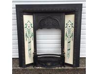 Victorian cast iron fire surround/ fireplace