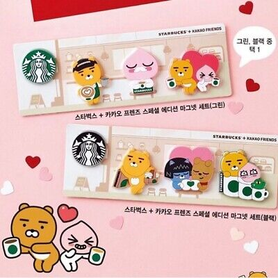 Starbucks Korea X Kakao Friends Collaboration Special Edition Magnet+Tracking