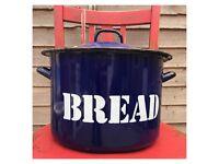 Genuine Vintage Enamel Bread Bin