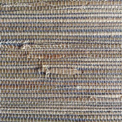 Beige Textured Grass Cloth Wallpaper - Wallpaper Grasscloth Blue Beige Natural Textured 2661-13 D/Rs FREE Ship