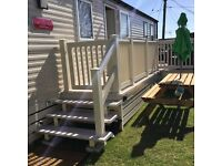 Luxury 2016 caravan with private garden area at Seawick holiday park