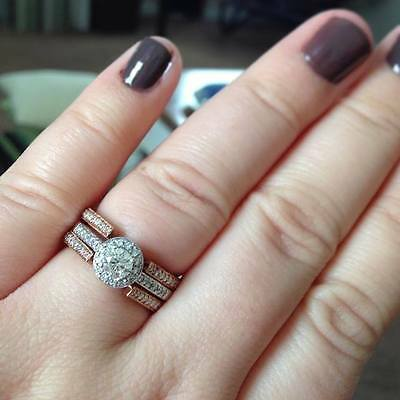 here are some ring guards and engagement rings that our customers have shared with us they show that halo engagement rings can be a perfect fit for a ring - Wedding Ring Guards
