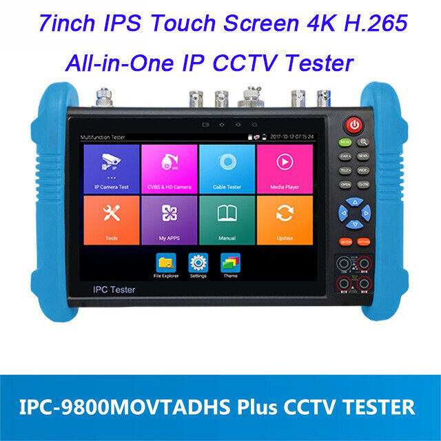 "4K IP CCTV Tester Monitor IPC-9800 Plus Series 7"" H.265 Onvif TVI CVI AHD Analog"